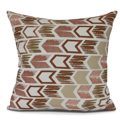 Waller Arrow Geometric Outdoor Throw Pillow Size: 20 H x 20 W, Color: Taupe