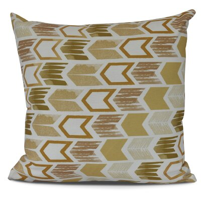 Waller Throw Pillow Size: 16 H x 16 W, Color: Gold