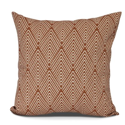 Waller Outdoor Throw Pillow Size: 18 H x 18 W, Color: Orange
