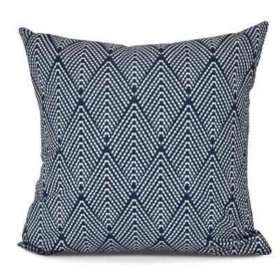 Borel Outdoor Throw Pillow Color: Navy Blue, Size: 20 H x 20 W