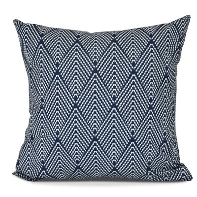 Waller Lifeflor Geometric Throw Pillow Size: 16 H x 16 W, Color: Navy Blue