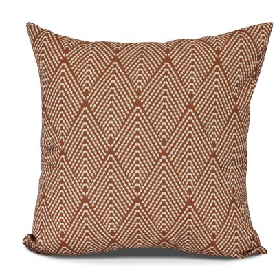 Waller Lifeflor Geometric Throw Pillow Size: 18 H x 18 W, Color: Orange