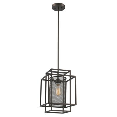 Yeary 1-Light LED Foyer Pendant Finish: Rubbed Oil Bronze, Size: 27.25 H x 14.5 W x 14.5 D