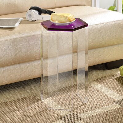 Channing End Table Color: Purple