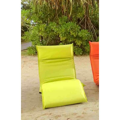 Godoy Foldable Chaise Lounge Fabric: Green