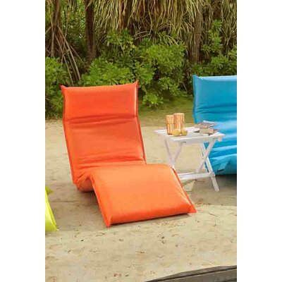 Godoy Foldable Chaise Lounge Fabric: Orange