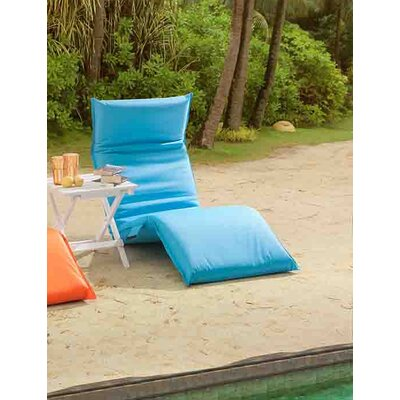 Godoy Foldable Chaise Lounge Fabric: Turquoise