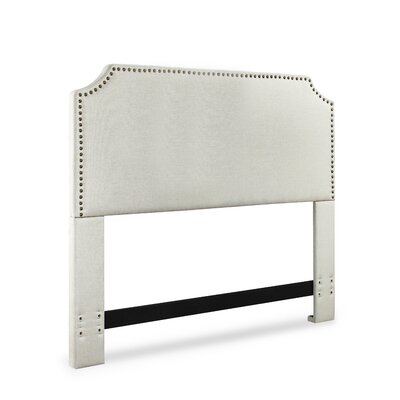 Luna Upholstered Panel Headboard Size: King / California King, Upholstery: Bone