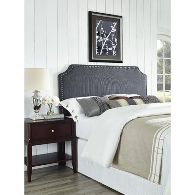 Luna Upholstered Panel Headboard Size: Full / Queen, Upholstery: Graphite