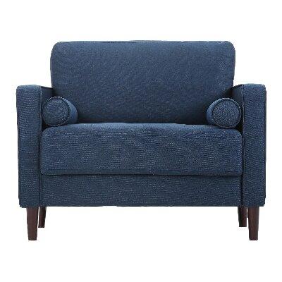 Garren Armchair Upholstery: Navy Blue