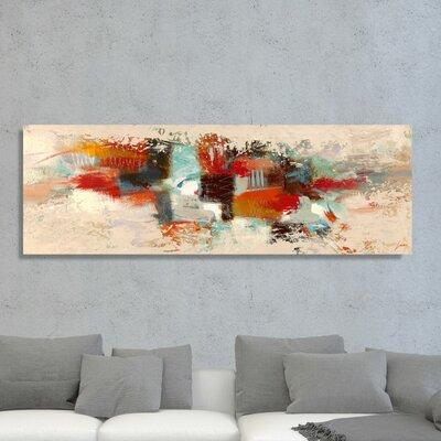 'SAI - Geometric Fade' Painting Print on Canvas Size: 20