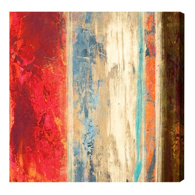 'SAI - Geometrica Iris' Painting Print on Canvas Size: 12