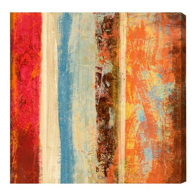 'SAI - Geometrica Iris II' Painting Print on Canvas Size: 12