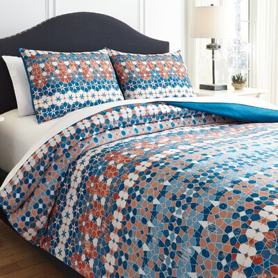 Eleni 3 Piece Reversible Comforter Set Size: Queen