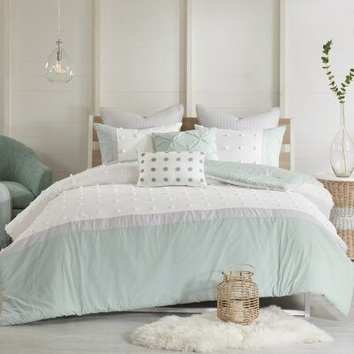 Myla 7 Piece Cotton Comforter Set Size: King/California King