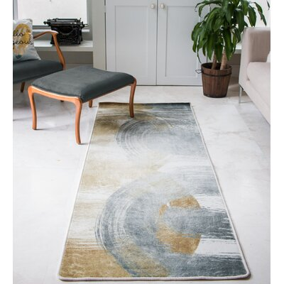 Winkle Two Become One Gold/Gray Area Rug
