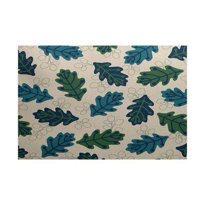 Morano Blue Indoor/Outdoor Area Rug Rug Size: 4 x 6