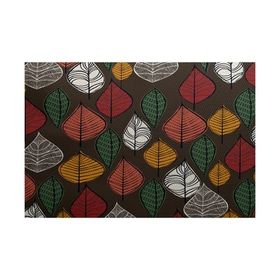 Avalos Brown Indoor/Outdoor Area Rug Rug Size: 4 x 6