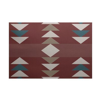 Deray Geometric Print Orange Indoor/Outdoor Area Rug Rug Size: Rectangle 3 x 5