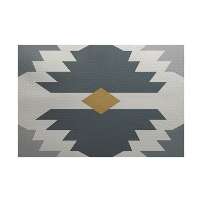 Jools Geometric Print Gray Indoor/Outdoor Area Rug Rug Size: 4 x 6