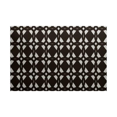 Caspar Geometric Print Brown Indoor/Outdoor Area Rug Rug Size: 3 x 5