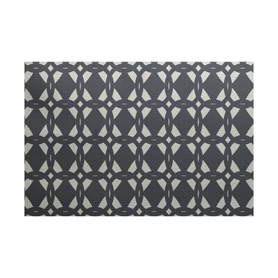 Settles Geometric Print Gray Indoor/Outdoor Area Rug Rug Size: 2 x 3