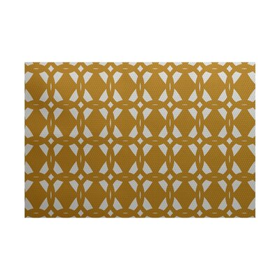 Singleton Geometric Print Gold Indoor/Outdoor Area Rug Rug Size: 3 x 5