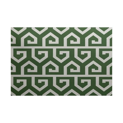 Montague� Geometric Print Gray Indoor/Outdoor Area Rug Rug Size: 2 x 3