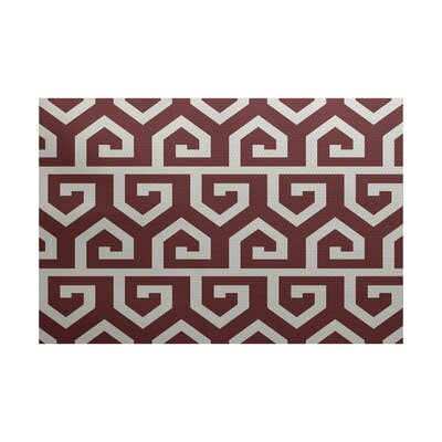 Dries Geometric Print Rust Indoor/Outdoor Area Rug Rug Size: 2 x 3