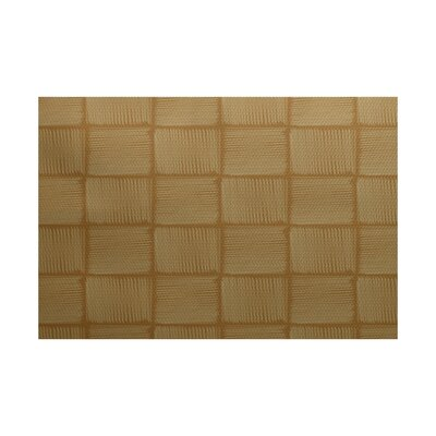Setzer Geometric Print Gold Indoor/Outdoor Area Rug Rug Size: 4 x 6