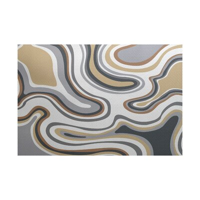 Buenrostro Taupe Indoor/Outdoor Area Rug Rug Size: 5 x 7