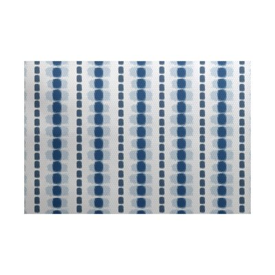 Leal Blue/White Indoor/Outdoor Area Rug Rug Size: Rectangle 2 x 3