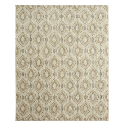 Norvell Sketched Ogee Gray Area Rug Rug Size: 8 x 10