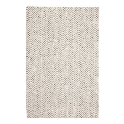 Sigrid Hand-Woven Ivory Area Rug Rug Size: 5 x 8