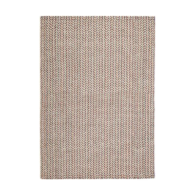 Sibyl Hand-Woven Yellow/Red Area Rug Rug Size: 8 x 10