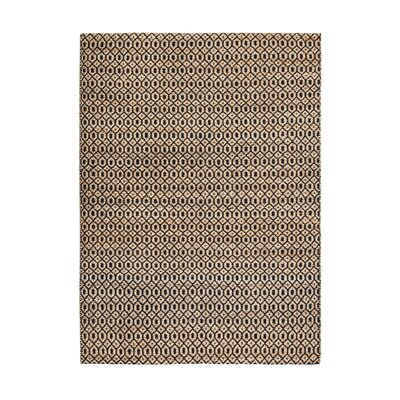 Shyla Hand-Woven Black/Tan Area Rug Rug Size: 5 x 8