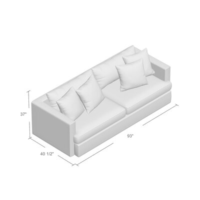 Mckenzie Sofa Upholstery: Big Sir Ivory / McCambo Strawberry