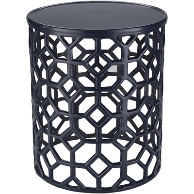 Depalma End Table Color: Navy Blue