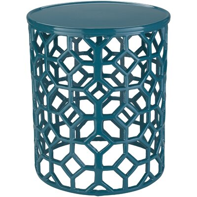 Depalma End Table Color: Aqua