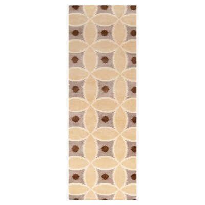 Allandale Papyrus Area Rug Rug Size: Runner 26 x 10