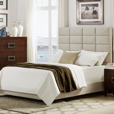 Rose Upholstered Panel Bed Size: King