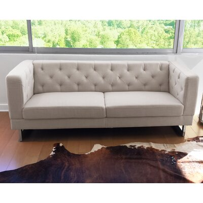Zoey Chesterfield Sofa in Cream