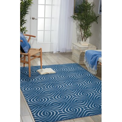 Anemone Navy Area Rug Rug Size: Rectangle 8 x 10