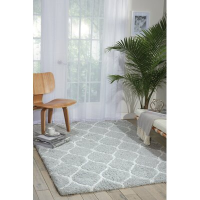 Kosmas Hand-Tufted Gray Area Rug Rug Size: Rectangle 76 x 96