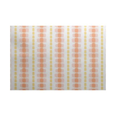 Leal Yellow/Orange Indoor/Outdoor Area Rug Rug Size: Rectangle 2' x 3'