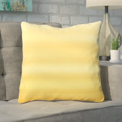 Aguero Ombre Watercolors Throw Pillow Color: Mimosa, Size: 16 H x 16 W