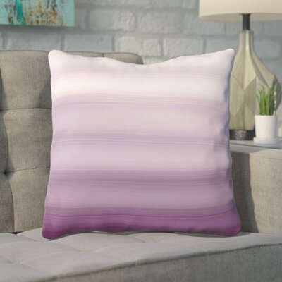 Aguero Ombre Watercolors Throw Pillow Size: 16 H x 16 W, Color: Purple
