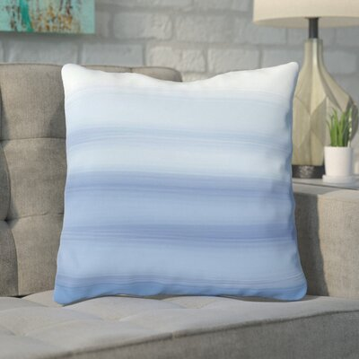 Aguero Ombre Watercolors Throw Pillow Size: 18 H x 18 W, Color: Blue
