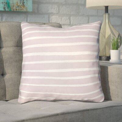 Smetana Outdoor Throw Pillow Size: 18 H x 18 W x 4 D, Color: Pink