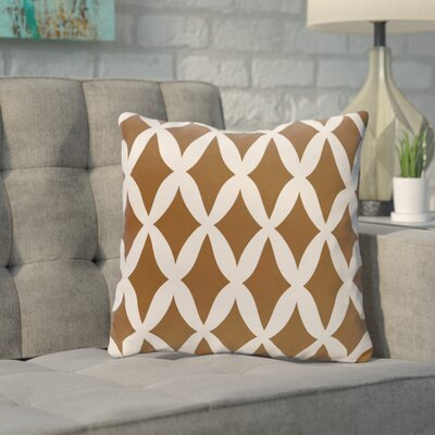 Throw Pillow Size: 18 H x 18 W, Color: Cocoa